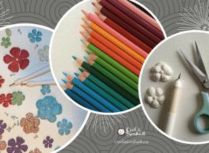 fleurs faites à la main, crayons de couleur, c'est ça la créativité