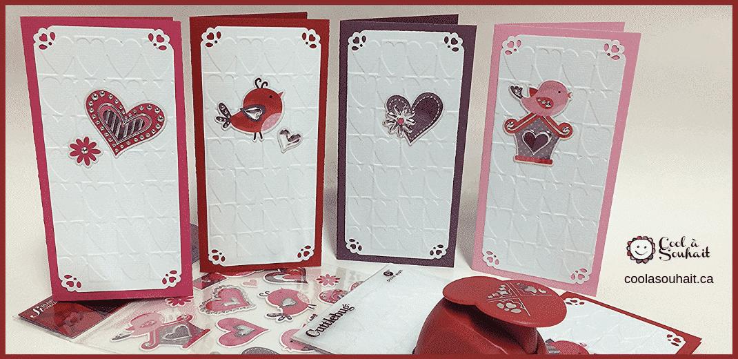 Carte pour la St-Valentin fait main.