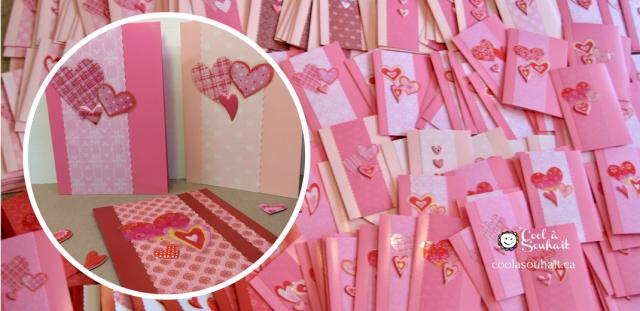 cartes de St-Valentin facile à fabriquer