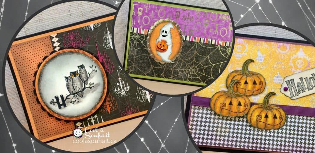 Cartes Halloween faciles avec citrouilles, hiboux et fantômes faciles à fabriquer
