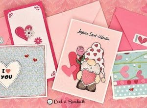Cartes de St-Valentin fait main.