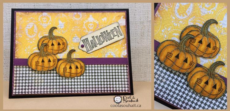 Cartes Halloween faciles à fabriquer avec citrouilles.