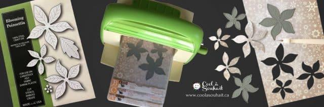 Découpe du Poinsettia avec la machine à découper Cuttlebug