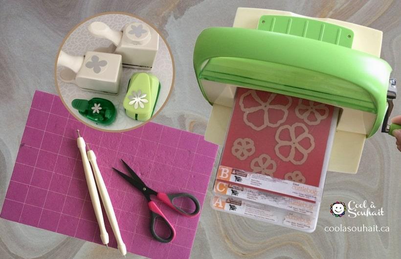 fleurs en papier faciles fabriquer pour scrapbooking cool souhait. Black Bedroom Furniture Sets. Home Design Ideas