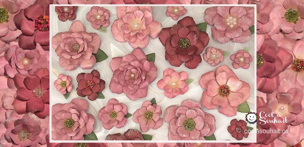 Tutoriel pour faire des fleurs en papier cartonné.
