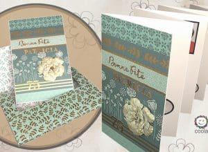 Carte accordéon avec sa boîte enveloppe