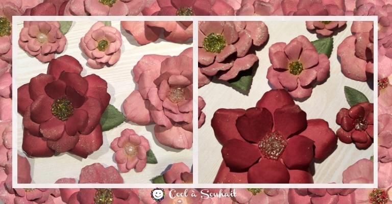 Fleurs qui serviront d'embellissements pour mes cartes de voeux.
