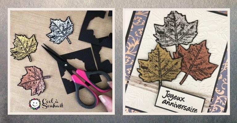 Embellissements de feuilles d'érables pour des cartes d'automne.