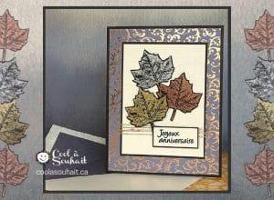 Cartes d'automne avec embellissements de feuilles d'érables