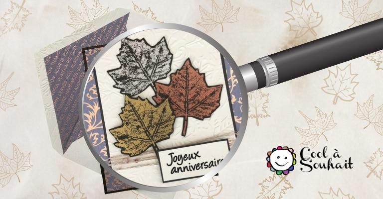 Embellissements de feuilles d'érable pour cartes automnales.
