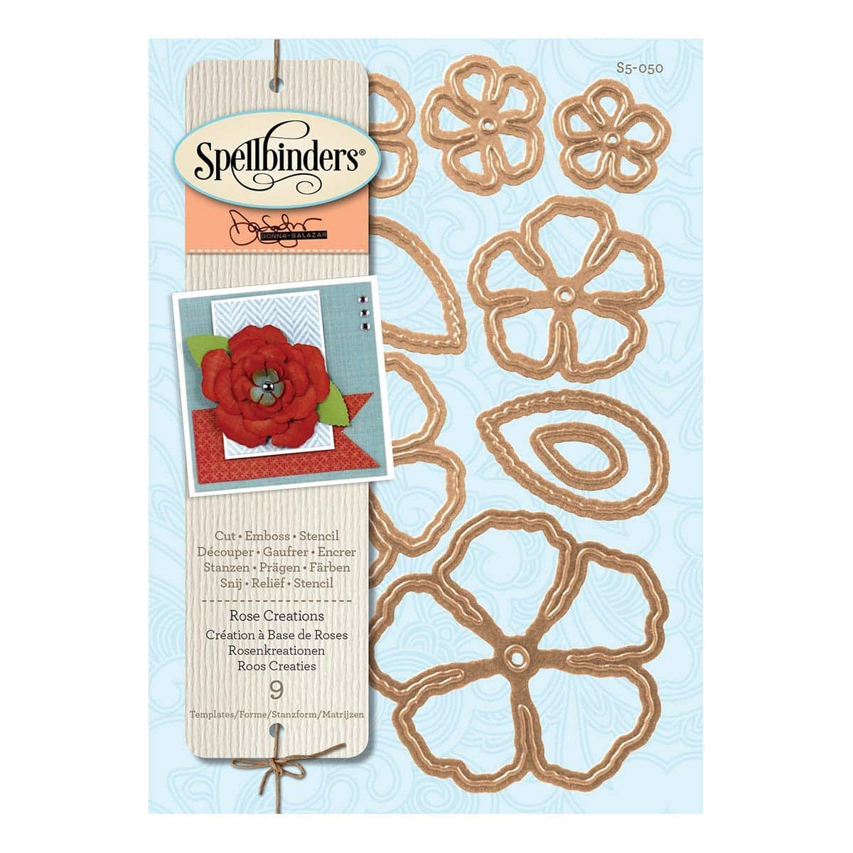 Spellbinders matrice de découpe rose création.