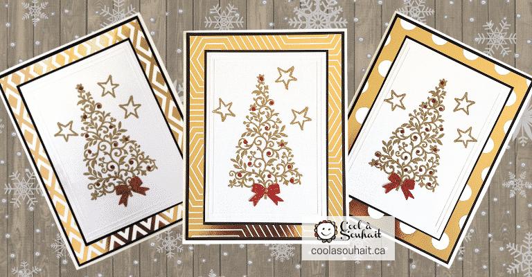 Cartes de Noël dorées!