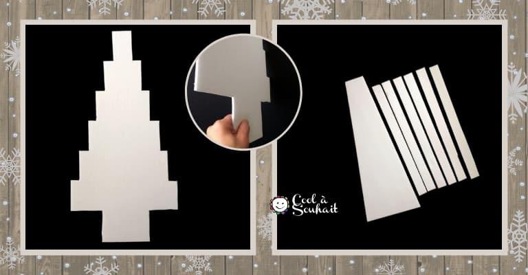 Découper les formes dans du carton mousse.