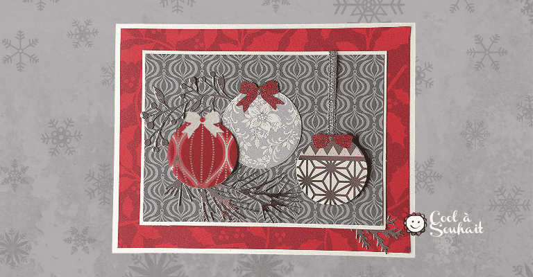 Cartes de Noël avec papier à motifs.