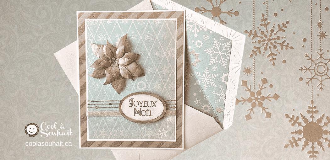 """Cartes de Noël """"fait main"""" avec Poinsettia."""