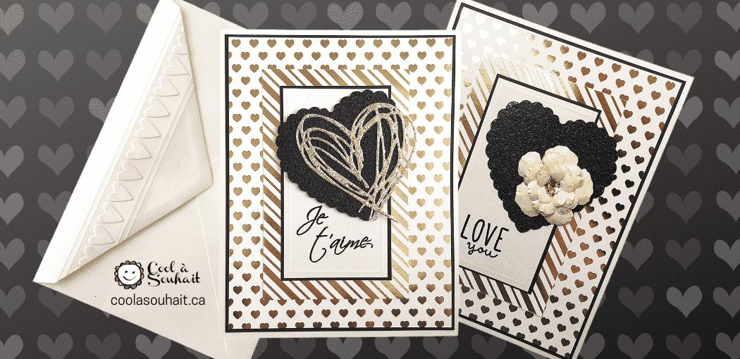 Cartes pour la St-Valentin. Valentine's Day Cards.