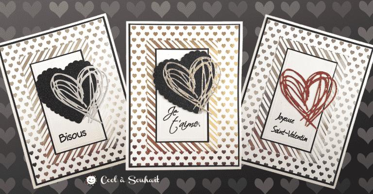 Carte de St-Valentin avec découpe de coeur.
