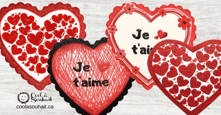Coeurs rouges pour la Saint-Valentin.