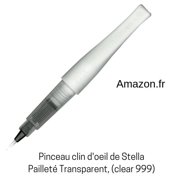 Pinceau clin d'oeil de Stella, pailleté transparent Zig (Kuretake)