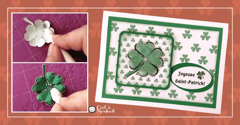 Un trèfle à quatre feuilles pour embellir une carte pour la St-Patrick.