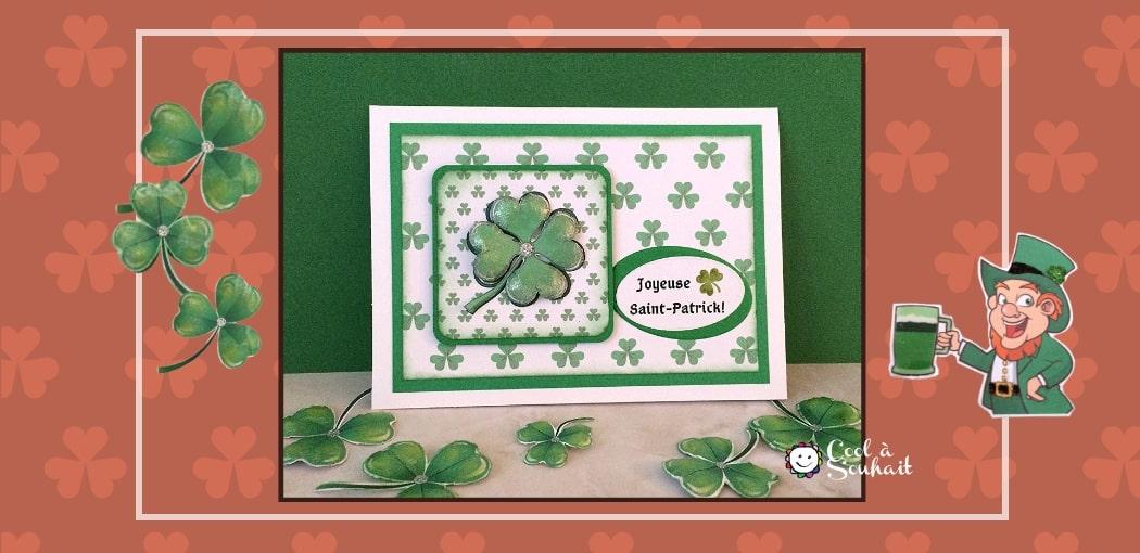 """Cartes de voeux """"fait main"""" pour la Saint-Patrick."""