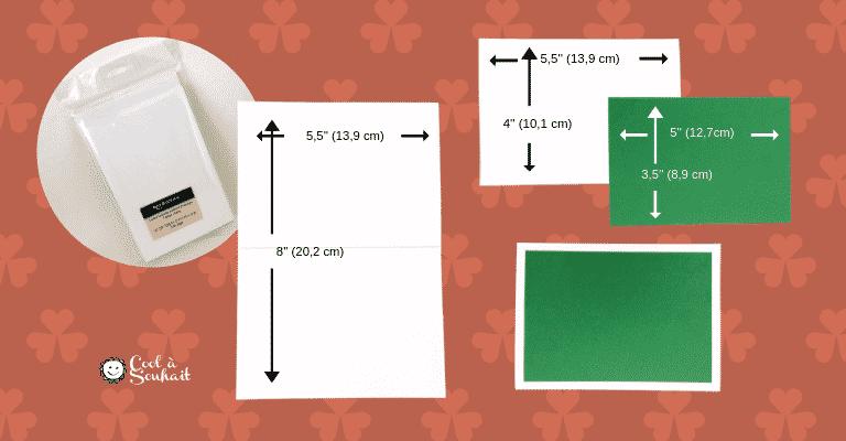 Bases de cartes réalisées avec l'ensemble de cartes et enveloppes de Recollections.