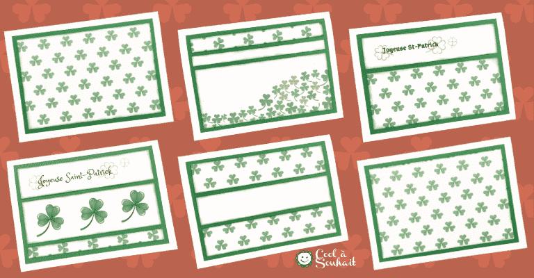 Cartes de voeux pour la Saint-Patrick.