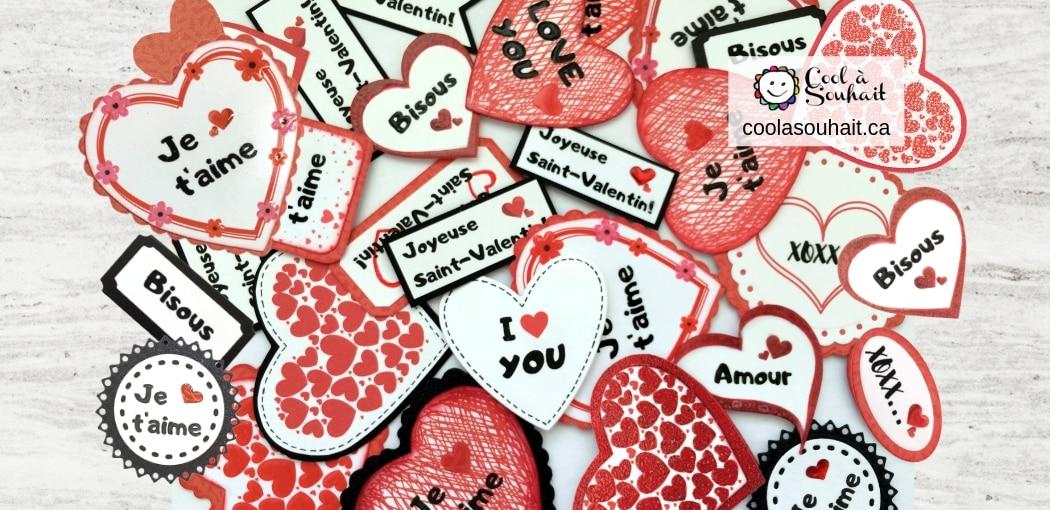 Des coeurs et des mots d'amour pour la Saint-Valentin.