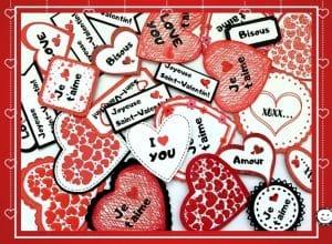 Des coeurs et textes pour la St-Valentin