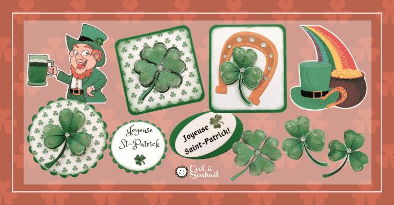Embellissements pour les cartes de voeux pour la Saint-Patrick.