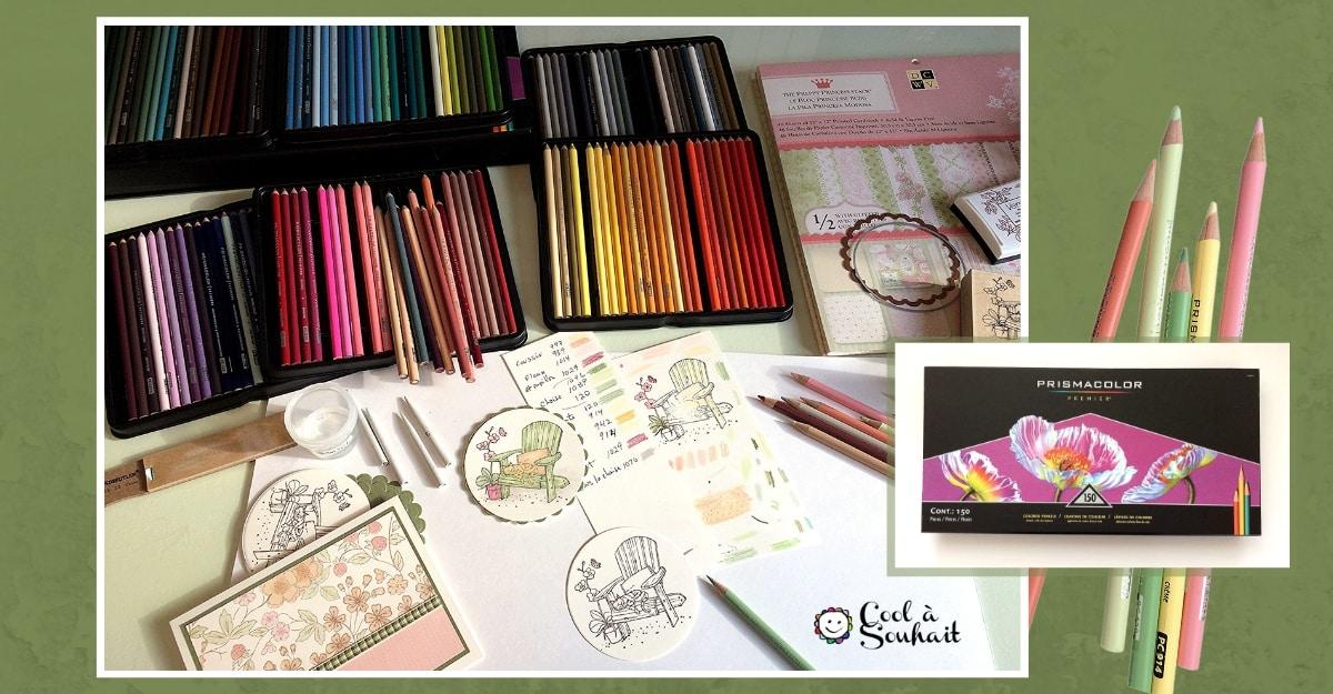 Crayons de couleur Prismacolor Premier et Gamsol.