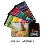 Crayons de couleur Zenacolor. Boîte de 120.