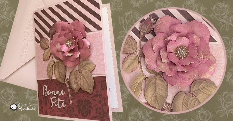 Un belle rose pour la première de mes cartes pour la fête des mères.