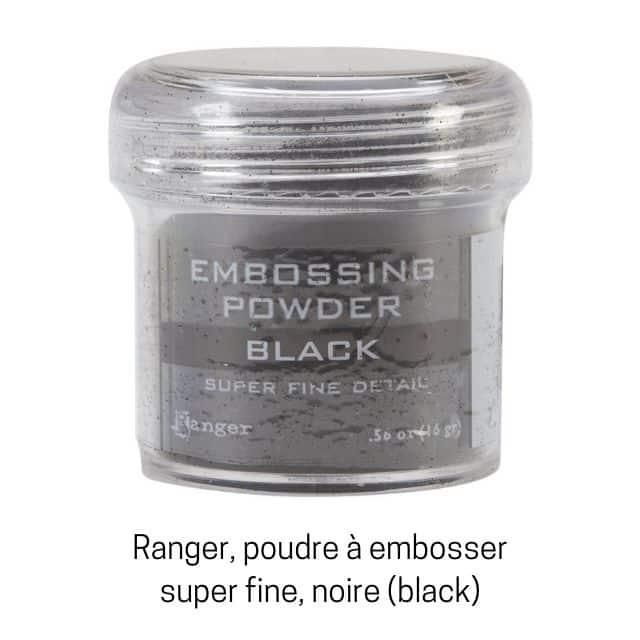 Poudre à embosser noire de Ranger