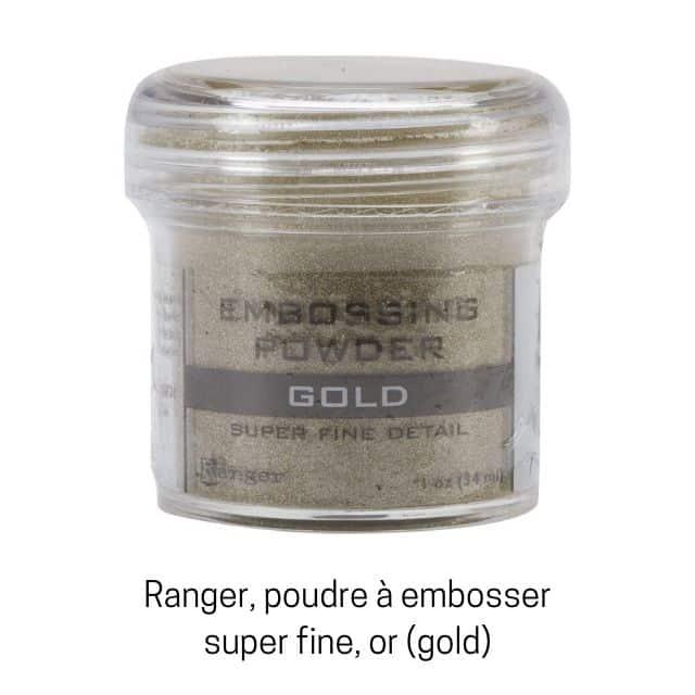 Ranger, poudre à embosser super fine, or.