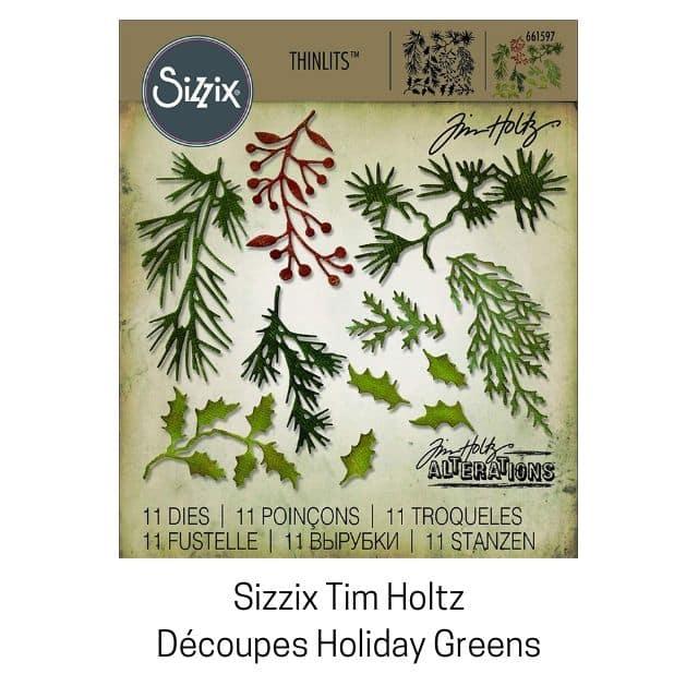 Sizzix Tim Holtz dies holiday greens