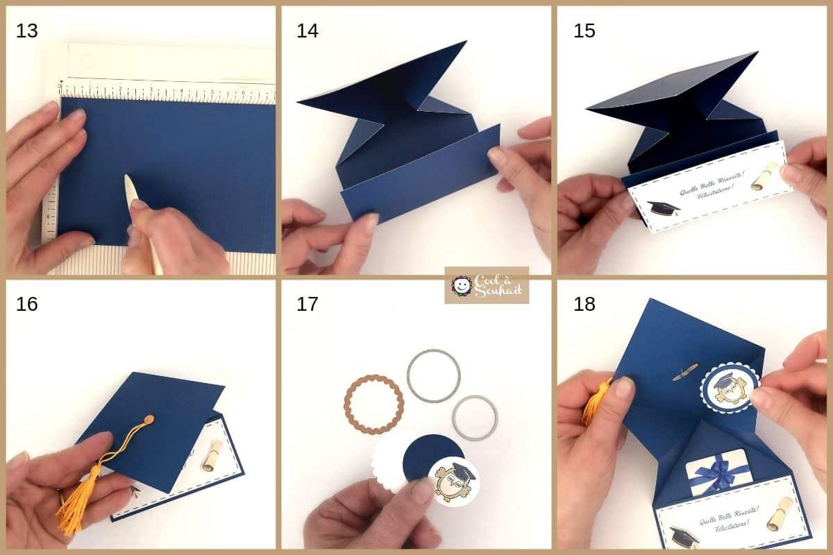 Carte de remise des diplômes pour insérer argent ou carte cadeau.