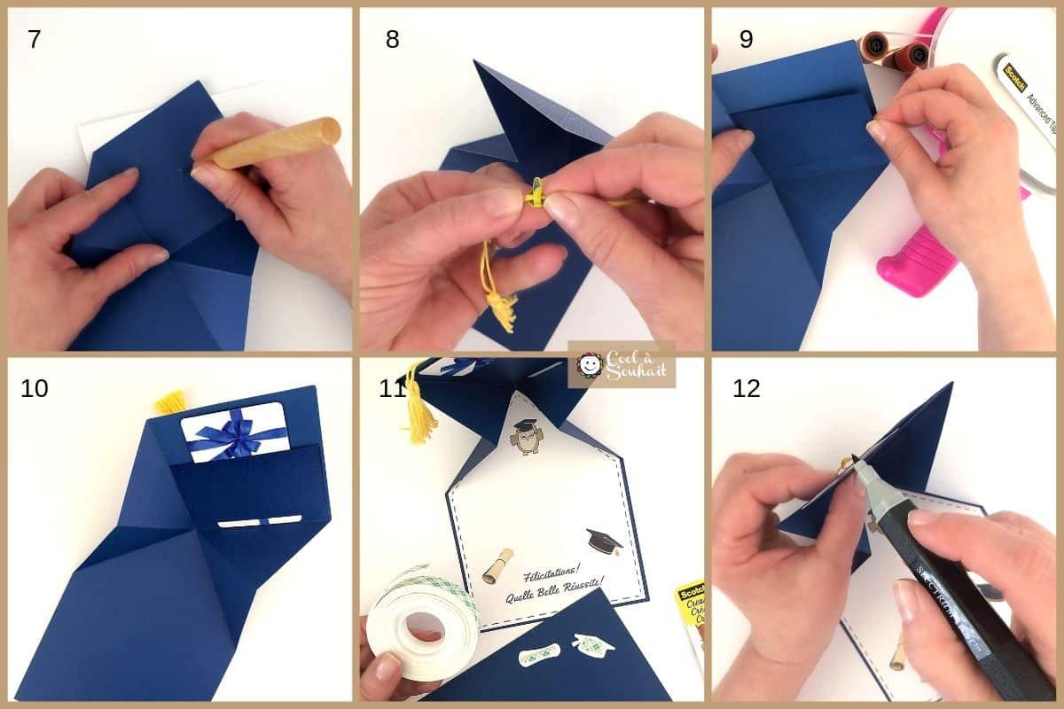 Voici un tutoriel pour fabriquer une carte pour offrir une carte cadeau à un diplômé. (Fait main)