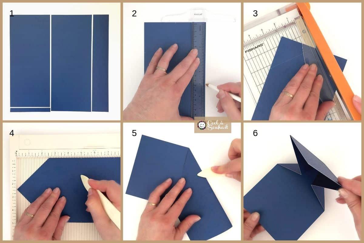 Tutoriel en photo pour fabriquer la base de deux cartes de graduation.