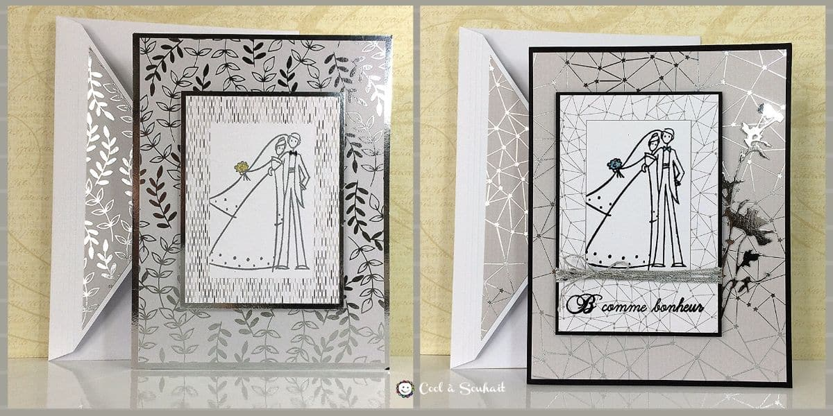 Cartes de mariage pour offrir nos félicitations aux nouveaux mariés.