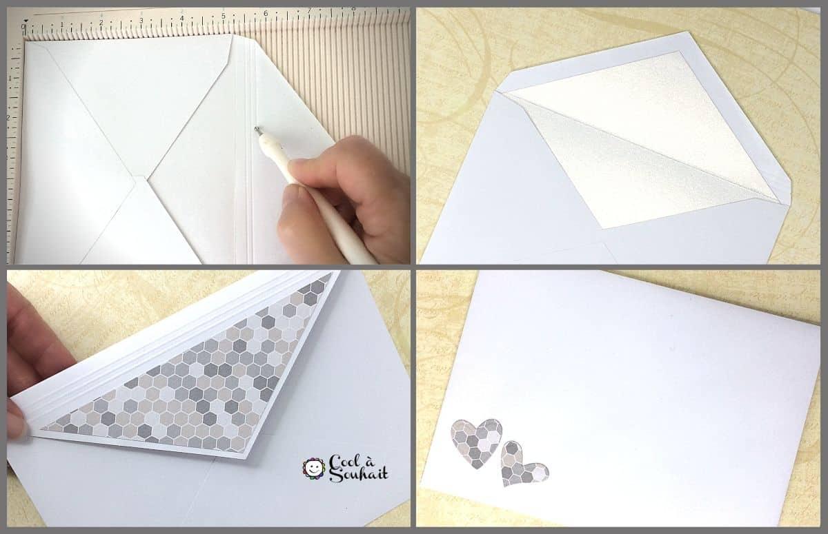 Doubler et décorer les enveloppes.
