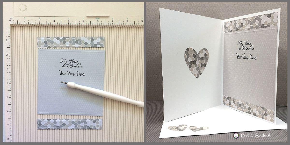 Texte à l'intérieur d'une carte de félicitations pour un mariage.