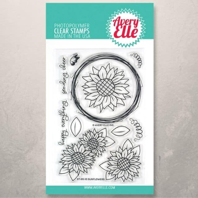 Avery Elle Stamps Sunflowers