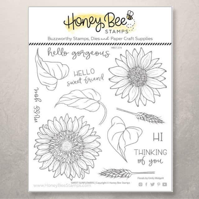 Honey Bee Stamps Sunflowers