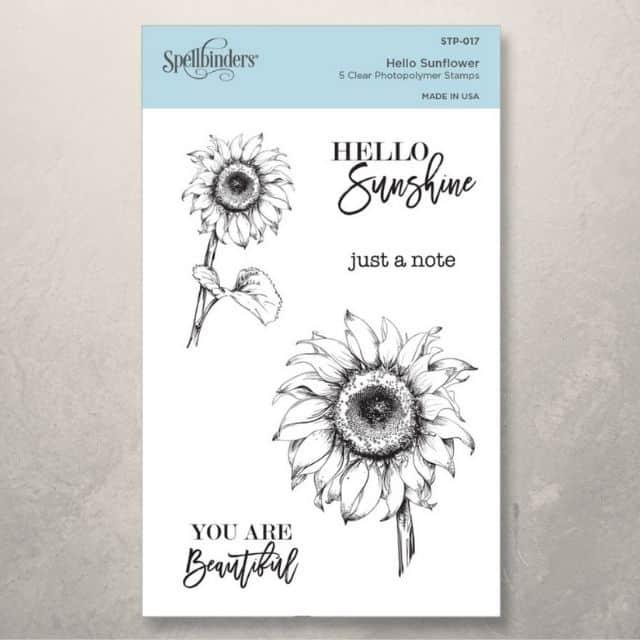 Spellbinders stamp Sunflower