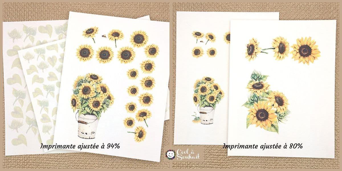 Pages à imprimer GRATUITEMENT pour réaliser trois cartes de voeux avec tournesols peints à l'aquarelle.