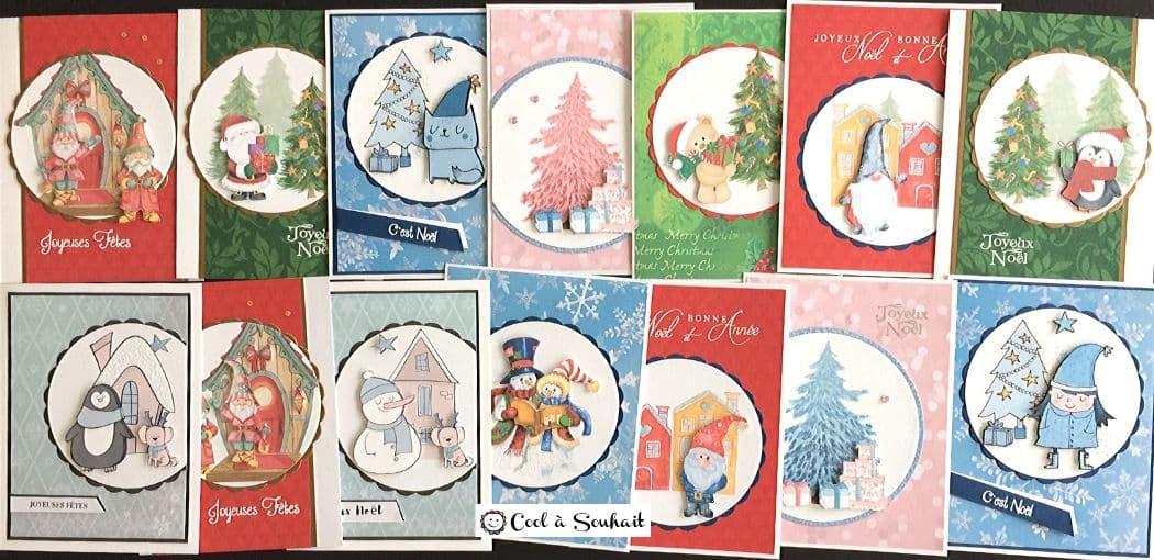 Cartes de Noël à faire soi-même.