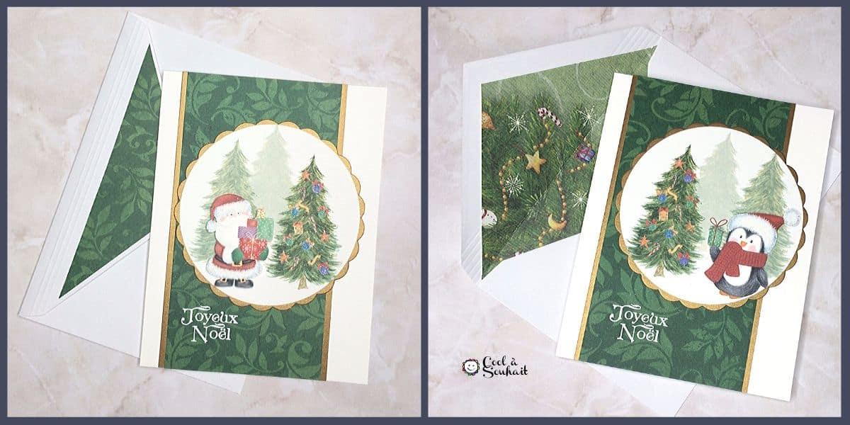 Embellir les enveloppes avec du papier à motifs.