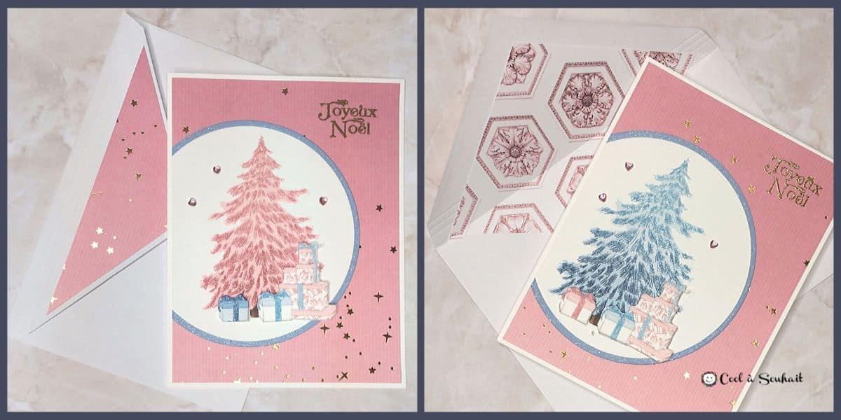 Embellir les enveloppes pour cartes de Noël.