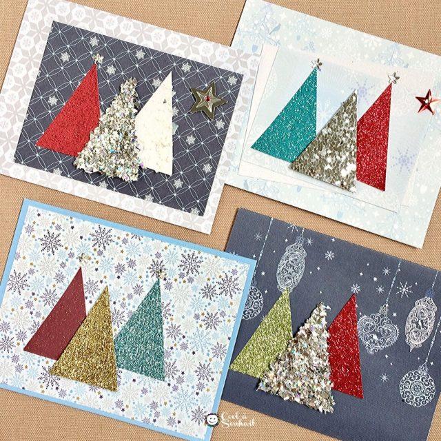 Cartes de Noël faciles à fabriquer avec les enfants.